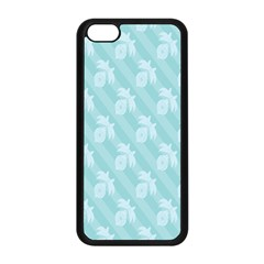 Christmas Day Ribbon Blue Apple Iphone 5c Seamless Case (black) by Mariart