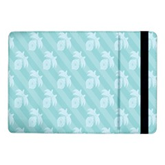 Christmas Day Ribbon Blue Samsung Galaxy Tab Pro 10 1  Flip Case by Mariart