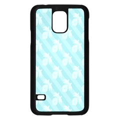 Christmas Day Ribbon Blue Samsung Galaxy S5 Case (black) by Mariart