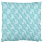 Christmas Day Ribbon Blue Standard Flano Cushion Case (One Side) Front