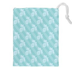 Christmas Day Ribbon Blue Drawstring Pouches (xxl) by Mariart
