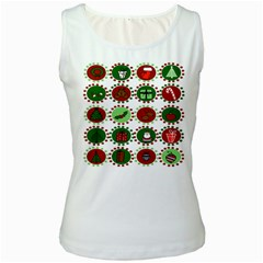 Christmas Women s White Tank Top