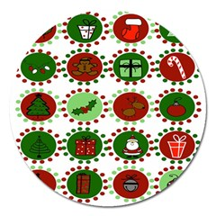 Christmas Magnet 5  (round)