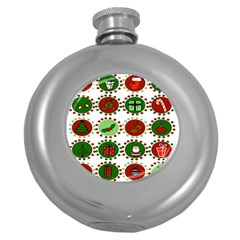 Christmas Round Hip Flask (5 Oz) by Mariart