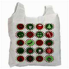 Christmas Recycle Bag (two Side)  by Mariart