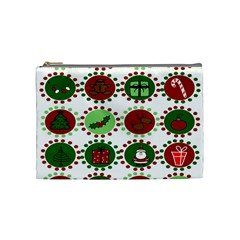 Christmas Cosmetic Bag (medium)  by Mariart