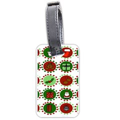 Christmas Luggage Tags (two Sides) by Mariart