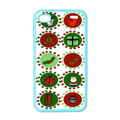 Christmas Apple Iphone 4 Case (color) by Mariart