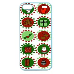 Christmas Apple Seamless Iphone 5 Case (color) by Mariart