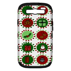Christmas Samsung Galaxy S Iii Hardshell Case (pc+silicone)