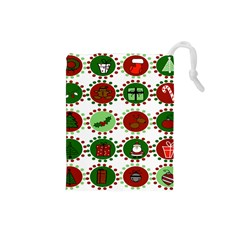 Christmas Drawstring Pouches (small)  by Mariart
