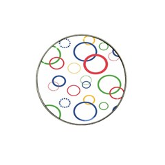 Circle Round Green Blue Red Pink Yellow Hat Clip Ball Marker by Mariart