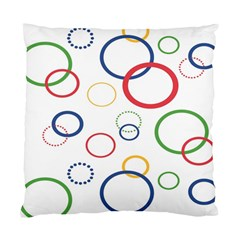 Circle Round Green Blue Red Pink Yellow Standard Cushion Case (one Side) by Mariart