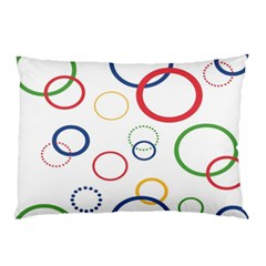 Circle Round Green Blue Red Pink Yellow Pillow Case by Mariart