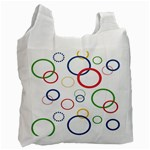 Circle Round Green Blue Red Pink Yellow Recycle Bag (One Side) Front