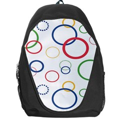 Circle Round Green Blue Red Pink Yellow Backpack Bag by Mariart