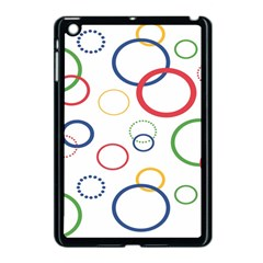 Circle Round Green Blue Red Pink Yellow Apple Ipad Mini Case (black) by Mariart