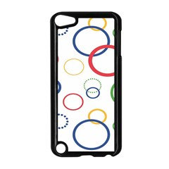Circle Round Green Blue Red Pink Yellow Apple Ipod Touch 5 Case (black) by Mariart