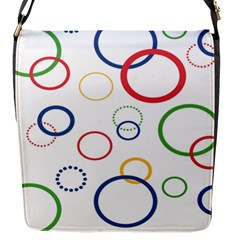 Circle Round Green Blue Red Pink Yellow Flap Messenger Bag (s) by Mariart