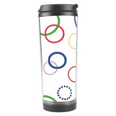 Circle Round Green Blue Red Pink Yellow Travel Tumbler by Mariart
