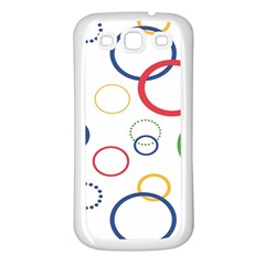 Circle Round Green Blue Red Pink Yellow Samsung Galaxy S3 Back Case (white) by Mariart