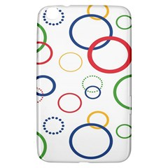 Circle Round Green Blue Red Pink Yellow Samsung Galaxy Tab 3 (8 ) T3100 Hardshell Case  by Mariart