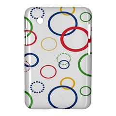 Circle Round Green Blue Red Pink Yellow Samsung Galaxy Tab 2 (7 ) P3100 Hardshell Case  by Mariart