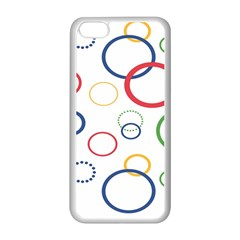 Circle Round Green Blue Red Pink Yellow Apple Iphone 5c Seamless Case (white) by Mariart