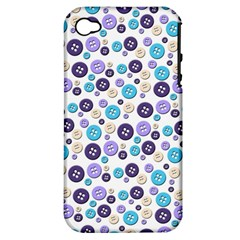 Buttons Chlotes Apple Iphone 4/4s Hardshell Case (pc+silicone) by Mariart