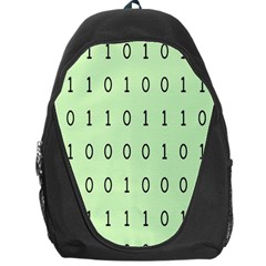 Code Number One Zero Backpack Bag by Mariart