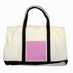 Dots Two Tone Tote Bag by Valentinaart