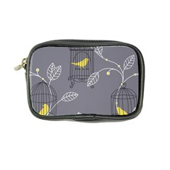 Cagr Bird Leaf Grey Yellow Coin Purse by Mariart