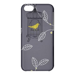 Cagr Bird Leaf Grey Yellow Apple Iphone 5c Hardshell Case by Mariart
