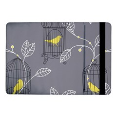 Cagr Bird Leaf Grey Yellow Samsung Galaxy Tab Pro 10 1  Flip Case by Mariart