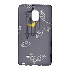 Cagr Bird Leaf Grey Yellow Galaxy Note Edge