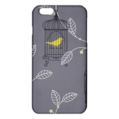 Cagr Bird Leaf Grey Yellow Iphone 6 Plus/6s Plus Tpu Case by Mariart