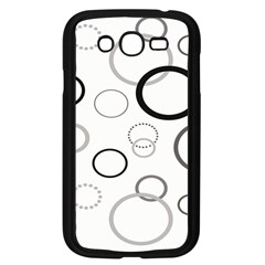 Circle Round Black Grey Samsung Galaxy Grand Duos I9082 Case (black) by Mariart