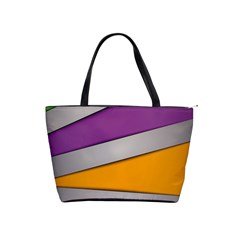 Colorful Geometry Shapes Line Green Grey Pirple Yellow Blue Shoulder Handbags by Mariart