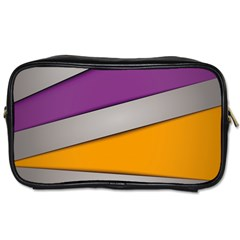 Colorful Geometry Shapes Line Green Grey Pirple Yellow Blue Toiletries Bags 2 Side by Mariart