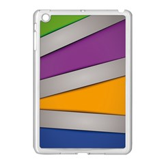 Colorful Geometry Shapes Line Green Grey Pirple Yellow Blue Apple Ipad Mini Case (white) by Mariart