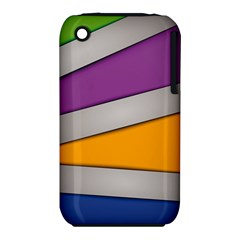 Colorful Geometry Shapes Line Green Grey Pirple Yellow Blue Iphone 3s/3gs