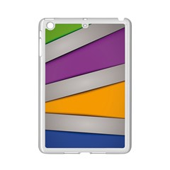 Colorful Geometry Shapes Line Green Grey Pirple Yellow Blue Ipad Mini 2 Enamel Coated Cases by Mariart
