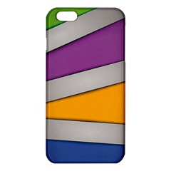 Colorful Geometry Shapes Line Green Grey Pirple Yellow Blue Iphone 6 Plus/6s Plus Tpu Case by Mariart