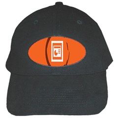 Circles Orange Black Cap by Mariart