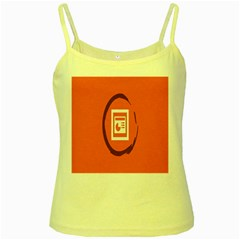 Circles Orange Yellow Spaghetti Tank by Mariart