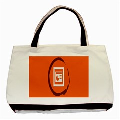Circles Orange Basic Tote Bag (two Sides) by Mariart