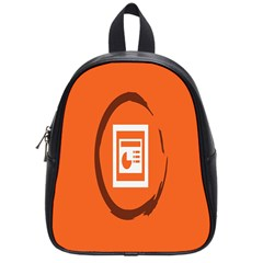 Circles Orange School Bags (small)  by Mariart