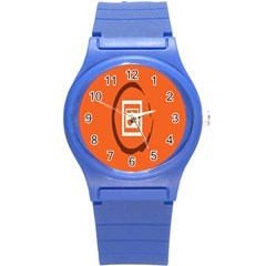 Circles Orange Round Plastic Sport Watch (s) by Mariart