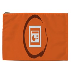Circles Orange Cosmetic Bag (xxl)  by Mariart
