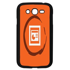 Circles Orange Samsung Galaxy Grand Duos I9082 Case (black) by Mariart
